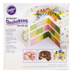 画像1: ウィルトンチェッカーボード ケーキ型 セット