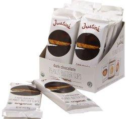 画像1: Justine オーガニック ピーナッツ バターカップ  チョコレート 12パック